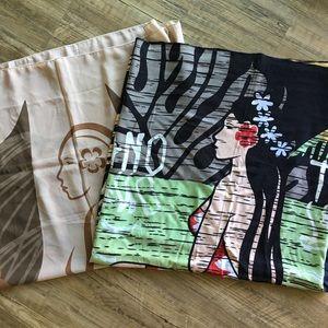 Accessories - Hinano Tahiti Girl TWO Pareos Sarongs